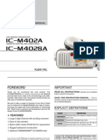 Icom IC-M402A Instruction Manual