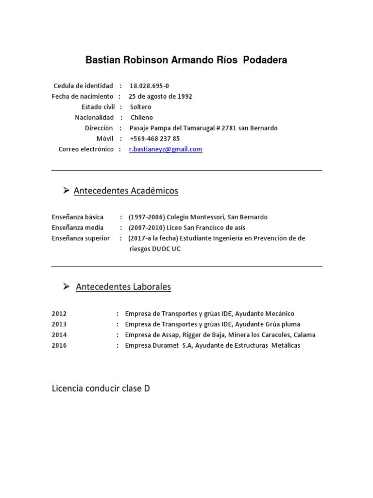 Famoso Curriculum Vitae Para Un Estudiante De Ingeniería Mecánica ...