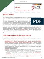 Highferritin Web Server