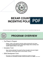 Bexar County Incentive Policies Document
