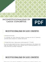 Inconstitucionalidad en Casos Concretos