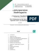 Analyse Stadtmagazine
