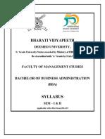 Imed BBA CBCS 2014 Syllabus