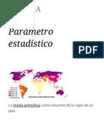 Parámetro Estadístico - Wikipedia, La Enciclopedia Libre