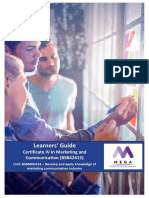 Learners Guide_BSBMKG418 DevpApply KW of MktgComm Ind