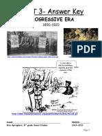 Answer Key for Unit 3 Progressive Era Packet 2014 (1)