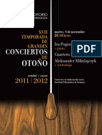 CIvo Pogorelich Cuarteto Parísii. FUERA de ABONO 28-10-2011