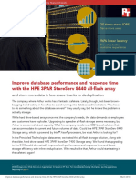 Improve database performance and response time with the HPE 3PAR StoreServ 8440 all-flash array