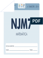 Njm7 4bim Mat - 2014 Aluno