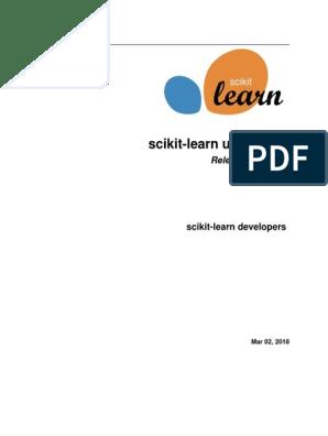 scikit-learn-docs pdf | Thread (Computing) | Installation