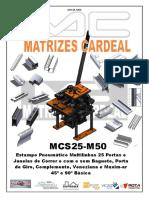 MCS25-M50 Estampo Pneumático Multilinhas 25 Portas e Janelas de Correr