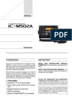 Icom IC-M502A Instruction Manual