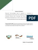 TdR Consultoía Comunidad Sechina 13 Mar 2018