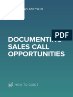 Documenting Sales Call Opportunities