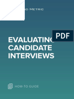 Evaluating Candidate Interviews