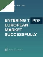 Entering the European Market Successfully