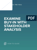 Examine Buy in With Stakeholder Analysis