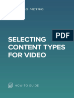 Selecting Content Types for Videos
