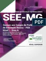Comum Aos Cargos de Professor SEE MG 2018 DENTRO DO EDITAL