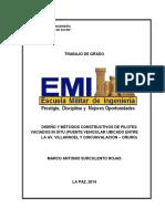 DISEÑO Y MÉTODOS CONSTRUCTIVOS DE PILOTES VACIADOS IN SITU (PUENTE VEHICULAR UBICADO ENTRE LA AV. VILLARROEL Y CIRCUNVALA~1