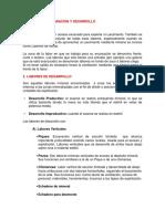 Labores de Preparación y Desarrollo en Mineria