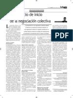 Pliego de Peticiones Como Acto de Inicio de La Negociación Colectiva - Autor José María Pacori Cari