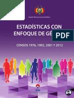 Estadisticas de Genero Censos 1976, 2001 y 2012