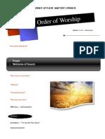 Order of Worship 09 19 2010 v1