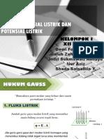 Powerpoint Hukum Gauss & Energi Potensial Listrik dan Potensial Listrik