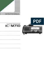 Icom IC-M710 Instruction Manual