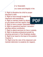 10 Rights of a Teacher