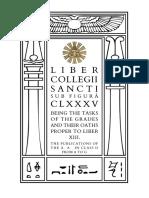 Crowley - Liber Collegii Sancti sub figurâ CLXXXV