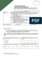 Prueba Octavo Mate Unidad 3 Ecuaciones Lineales y Funcion Colegio Da Vinci Para Imprimir