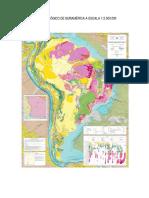 Mapa Geológico de Suramérica