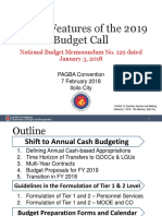 Salient Features of the 2019 Budget Call
