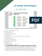 PERTEMUAN KE IV Manajemen Kredit.docx