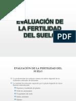 Evaluacion de La Fertilidad Del Suelo