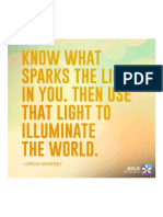 Know What Sparks the Light in You. Then Use That Light to Illuminate the World.
