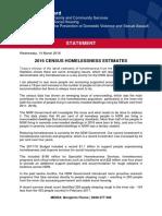Media Release - Homelessness Estimates (NSW)