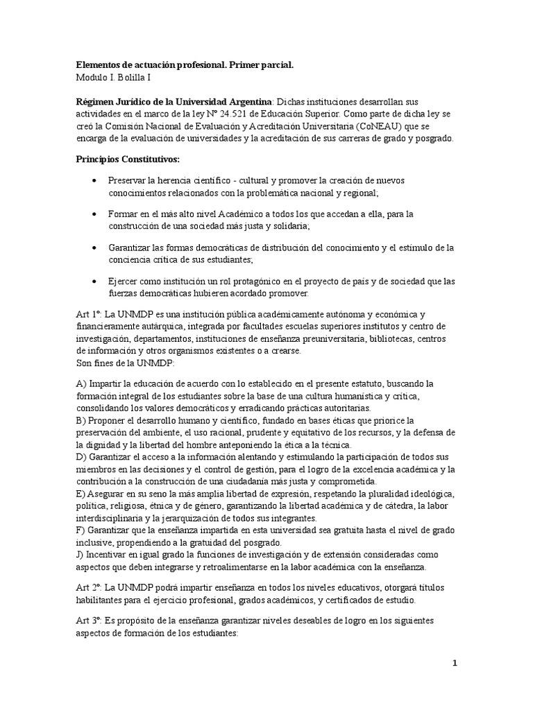 Moderno Declaración Objetiva Para El Estudiante Universitario ...