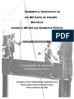 Análise Incremental Construtiva de Edifícios Metálicos de Andares Múltiplos Usando o Método Dos Elementos Finitos