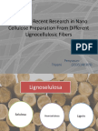 Review of Recent Research in Nano Cellulose Preparation From Different Lignocellulosic Fibers