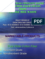Any Type of Coloured Cotton Waste to Pure White Cotton Fiber Project