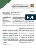 Biosorption of Hexavalent Chromium by Microorganisms