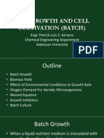 Lecture 2 - Cell Growth and Cell Cultivation (Batch Culture)