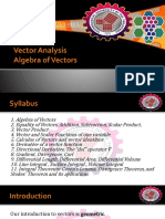 1-Vector Analysis-Algebra and Basics of Vector