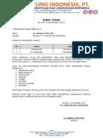 Surat Tugas Pengambilan Data Dan Survey (Bawa Alat Lab)