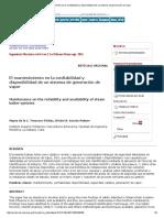 El Mantenimiento en La Confiabilidad y Disponibilidad de Un Sistema de Generación de Vapor