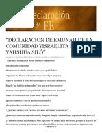 Declaracion de Emunah