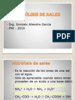 Tema 5 Hidrolisis de Sales